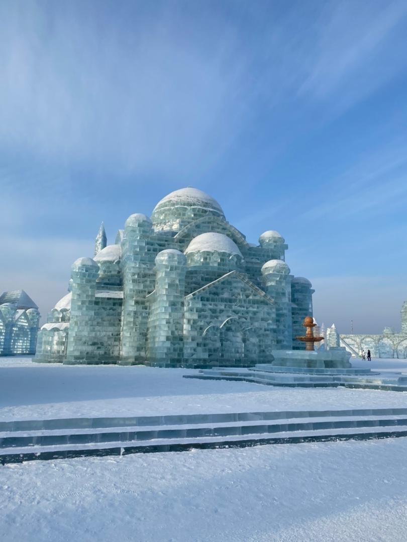 Palacio de hielo en China
